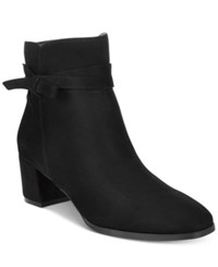 Impo Eman Block Heel Booties Women's Shoes Black