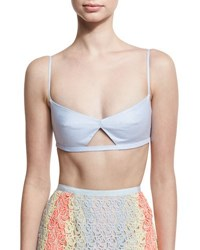 Gabriela Hearst Gaia Cutout Bralette Light Blue