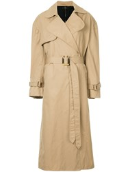 Ellery Illustrated Trench Coat Brown