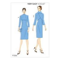 Vogue Jacket And Dress Sewing Pattern 9266
