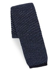 Polo Ralph Lauren Silk And Linen Knit Tie Indigo