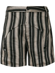 Lost And Found Ria Dunn Striped Garter Shorts Black