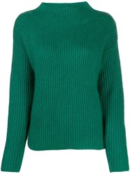 Luisa Cerano Dropped Shoulders Sweater Green