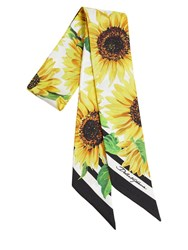 Dolce And Gabbana Girasoli Mini Printed Silk Twill Scarf