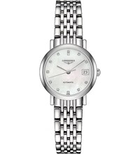 Longines L4.309.4.87.6 Elegant Collection Mother Of Pearl And Stainless Steel Watch Mother Of Pearl
