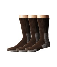 Thorlos Trail Hiking Crew 3 Pair Pack Chestnut Men's Crew Cut Socks Shoes Brown