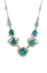 Sorrelli Sunflower Crystal Necklace Blue Green