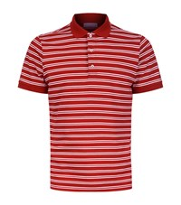 Sandro Boating Striped Polo Shirt Male Red