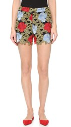 Alice Olivia Amaris High Waisted Lace Shorts Multi