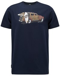 Animal Graphic Tee Navy