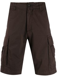 Perfection Side Pocket Cargo Shorts Brown