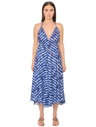 Tory Burch Tie Dye Print Cotton Voile Halter Dress