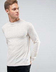 Only And Sons Fine Knit Jumper Oatmeal Off White Beige