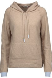 Chinti And Parker Merino Wool Cashmere Blend Hooded Sweater Beige