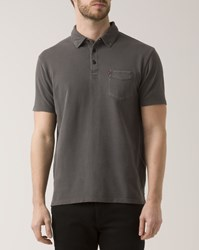 Levi's Washed Anthracite Pique Pocket Polo Shirt Grey