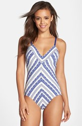 Women's Robin Piccone Jacquard One Piece Swimsuit