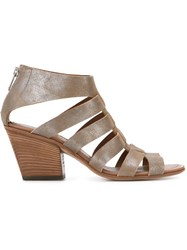 Pantanetti Strappy Chunky Heel Sandals Brown