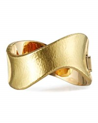 Vendorafa Onda Hammered 18K Gold Wave Bangle