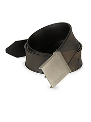 Burberry Leather Metal Buckle Belt Black
