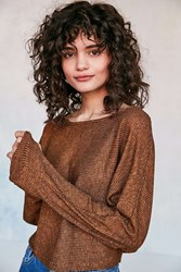 Silence And Noise Andy Dolman Sleeve Sweater Brown