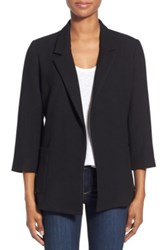 Gibson Three Quarter Sleeve Blazer Regular And Petite Black