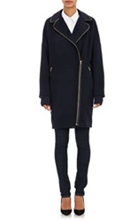 Band Of Outsiders Zipper Trim Coat Blue
