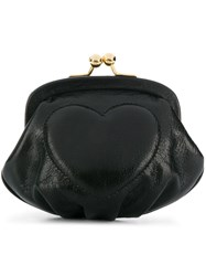 Moschino Cheap And Chic Heart Clutch Black