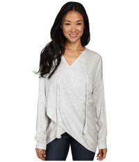 Fate Wrap Front Sweater Grey Women's Sweater Gray
