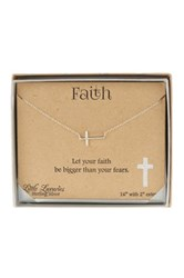 La Rocks Sterling Silver Sideways Cross Pendant Metallic
