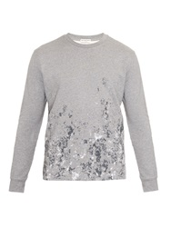 Balenciaga Printed Crew Neck Fleece Sweatshirt