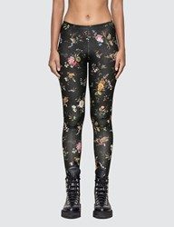 R 13 R13 Floral Leggings Black