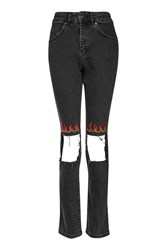 Topshop Flame Jeans By Ragged Priest Grey