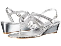 Adrianna Papell Carli Silver Women's Wedge Shoes