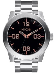 Nixon Corporal Ss With Rose Gold Dial