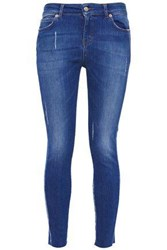 Iro Woman Distressed Mid Rise Skinny Jeans Mid Denim