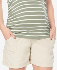 Motherhood Maternity Secret Fit Belly Cargo Shorts Khaki