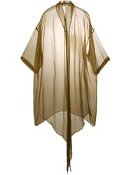Romeo Gigli Vintage Long Sheer Shirt Brown