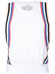 P.E Nation Off Racing Tank Top White