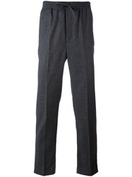 Ami Alexandre Mattiussi Elasticised Waist Carrot Fit Trousers Men Virgin Wool 40 Grey