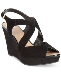 Alfani Women's Pellae Platform Wedge Sandals Women's Shoes Black
