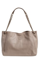 Tory Burch 'Marion' Slouchy Shoulder Tote Grey French Gray