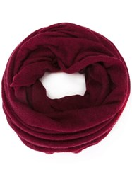 Isabel Marant Knitted Circle Scarf Red