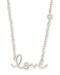 Shy By Sydney Evan Rhodium Love Pendant Bezel Diamond Necklace