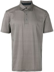 Ermenegildo Zegna Patterned Polo Men Cotton 48 Brown