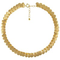 Eclectica Vintage 1960S Articulated Rolled Gold Necklace Gold