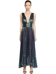 Maria Lucia Hohan Gathered Silk Chiffon And Lurex Dress