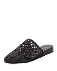 Donald J Pliner Rothkosp Woven Leather Slide Mule Black