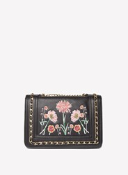 Dorothy Perkins Embroidered Chain Cross Body Bag Black