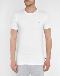 Diesel 2 Pack Randal White Round Neck T Shirts