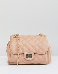 Marc B Mini Knightsbridge Quilted Across Body Bag Beige